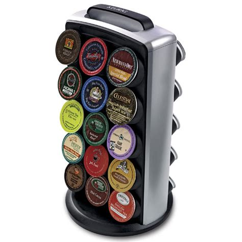 K Cup Shelf by Rotating 30 K Cup Storage And Display Tower In Tea And
