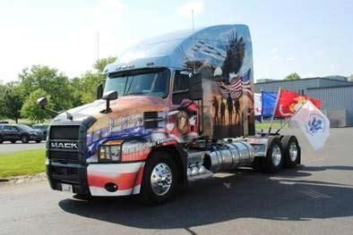 mack trucks honors fallen military heroes  st annual ride  freedom mack trucks