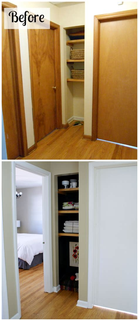 black linen closet dog nook home renovation home