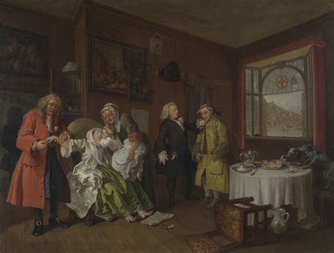 8 Paintings By Hogarth by File Marriage A La Mode 6 The S William