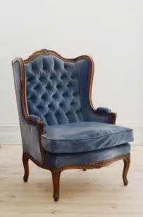 Rustic Armchair Vintage Blue Wingback Chair Lily Amp Bramwell