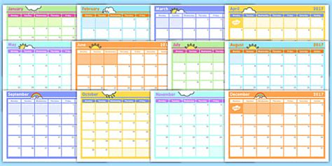 monthly planning calendar template monthly calendar planning template 2017 monthly calendar