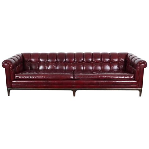 leather tufted sofa sale vintage biscuit tufted leather sofa by monteverdi young