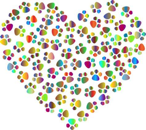 Cetakan Pangsit Warna Warni warna warni jantung dengan cakar cetakan domain publik vektor