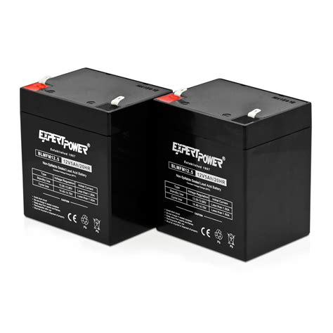 expertpower exp1250 2 12v 5ah home alarm battery with f1