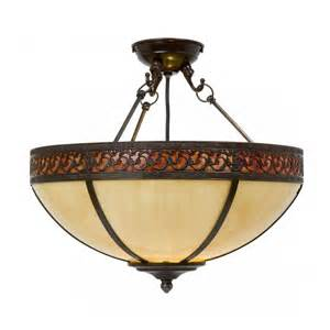 Vintage Patio Lights Edwardian Uplighter Ceiling Light In Cream Tiffany Glass