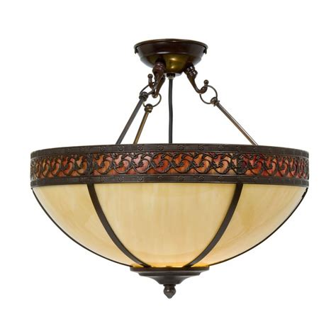 Edwardian Uplighter Ceiling Light In Cream Tiffany Glass Edwardian Ceiling Lights