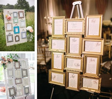 wedding seating plan picture frames tips seating chart displays 187 vision in white events