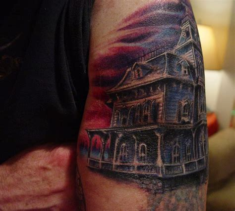 haunted mansion tattoo liz adeles spooky haunted mansion for kev
