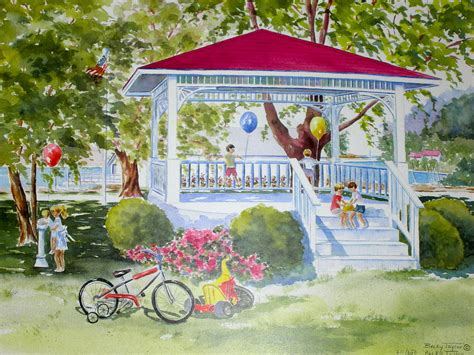 gazebo artist gazebo painting by becky