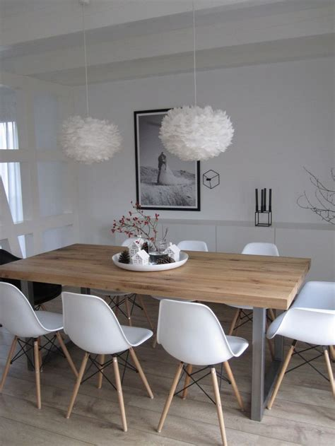 Wood Dining Table With White Chairs Best 25 Eames Chairs Ideas On Pinterest Eames Home Deco And Retro Furnish