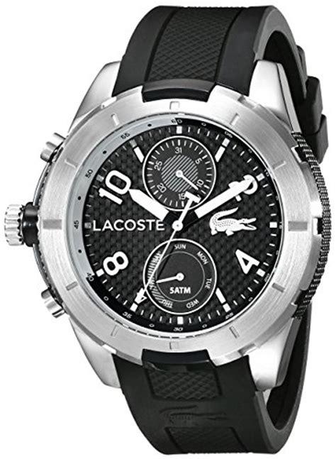 Lacoste 2010759 Tonga Black Silicone lacoste s 2010759 tonga analog display japanese quartz black