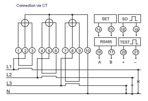 3 phase 4 wire energy meter wiring diagram wiring