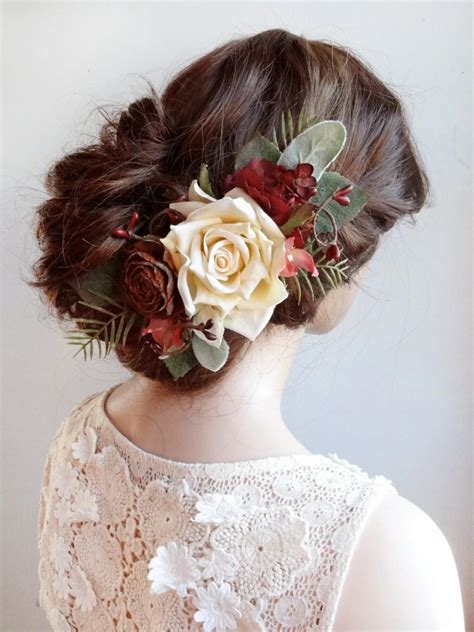 Wedding Hair Accessories Burgundy by Wedding Hair Burgundy Hair Accessory Bridal
