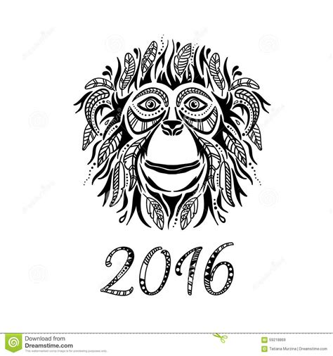 year of the monkey tattoo designs happy new year 2016 year of the monkey stock