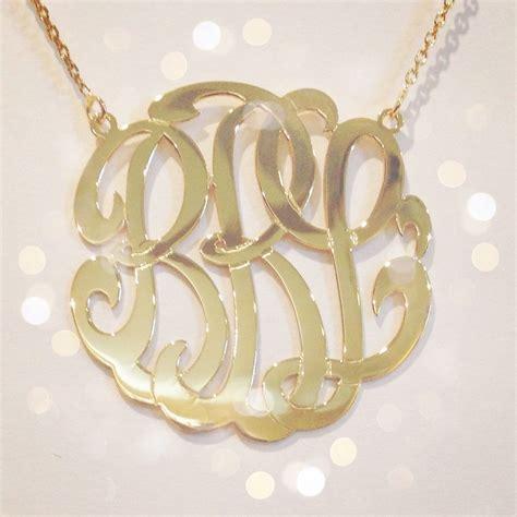 how to make monogram jewelry medium 14k gold monogram necklace