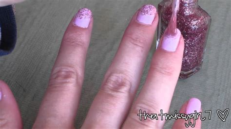 nail art ombre glitter tutorial glitter ombr 233 nail tutorial youtube