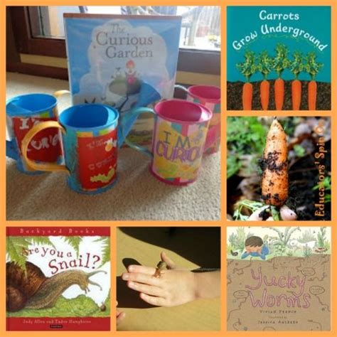 themes in the book matched kids garden activities that dig into reading