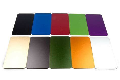 anodized aluminum colors 10 business card size color anodized aluminum metal blanks