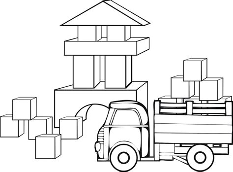 Building Blocks Coloring Page Coloring Pages Block Coloring Pages