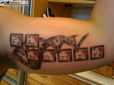 periodic table tattoo geeky tattoos part 44