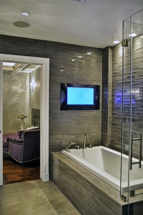 bathroom television tv in bathroom glass showers and bathroom ideas pinterest
