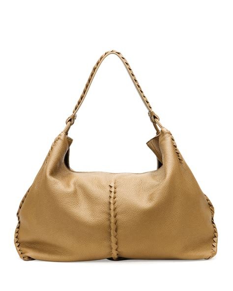 Bottega Veneta Colibri Bag by Bottega Veneta Cervo Large Shoulder Bag Sand In Beige