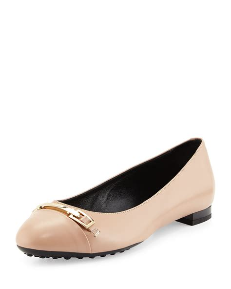 leather ballet flats tod s horsebit leather ballet flats in lyst