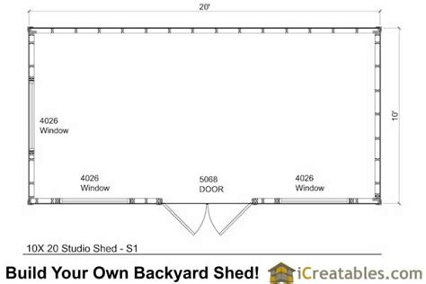 10 X 20 Shed With Floor - 10x20 modern studio shed plans