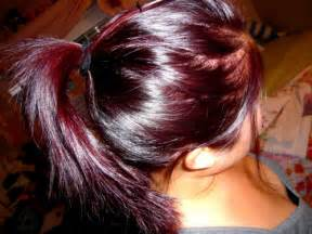 maroon hair color burgundy on