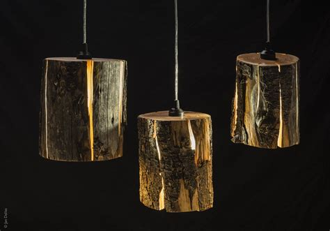 Recycled Pendant Lights Duncan Meerding Cracked Log Ls In The Recycled Interiors