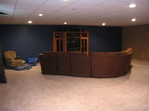 accent wall in living room navy blue apartment decor