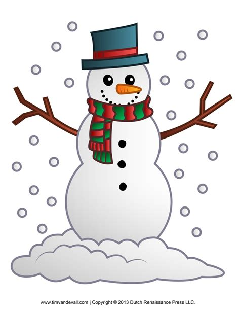 snowman clipart free snowman clipart template printable coloring pages