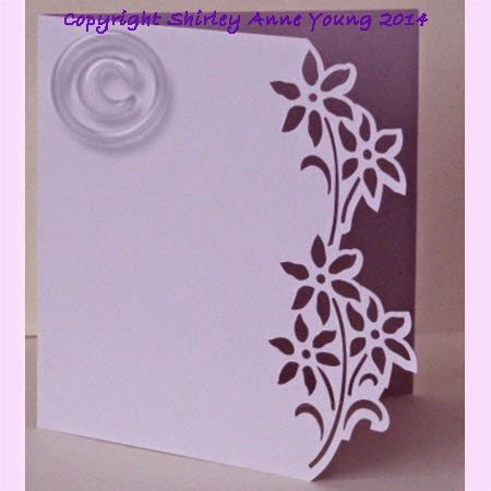 free card templates for silhouette cameo shirley s cards flower card freebie