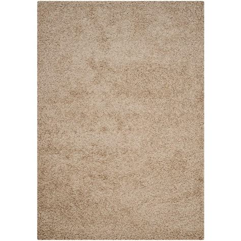 Safavieh Athens Shag Beige 6 Ft X 9 Ft Area Rug Sga119g 6 Foot Area Rugs