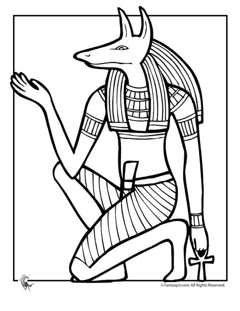 printable egyptian art egyptian gods coloring pages az coloring pages