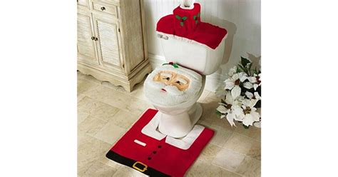 santa bathroom set 3pc santa bathroom decor set only 5 99 mylitter one