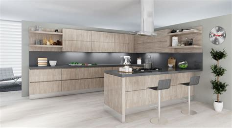 Handmade Kitchens Direct Reviews - lusso cucina italian kitchen oneskin collection fossil oak