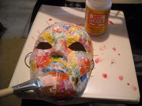 decoupage mask how to make a awsome papercraft rachael edwards