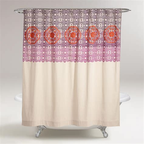embroidered shower curtains iris embroidered shower curtain world market
