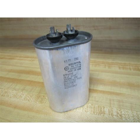 general electric capacitor 97f9833 general electric 97f6030 dielektrol capacitor used mara industrial