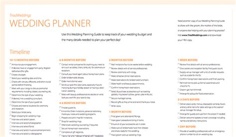 wedding planner wedding planning guide checklist south africa the planning guide triad weddings the blog