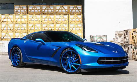 blue on blue corvette by forgiato wheels