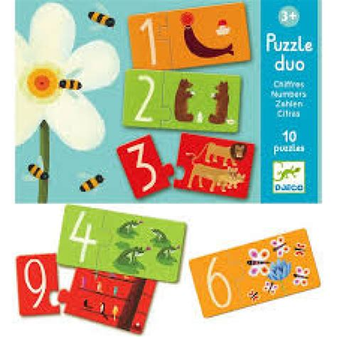 Puzzle Numbers 2 djeco puzzle duo numbers toys and irelandtoys and