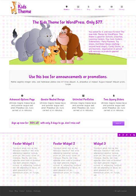 wordpress themes children s book kids wordpress theme for children s websites