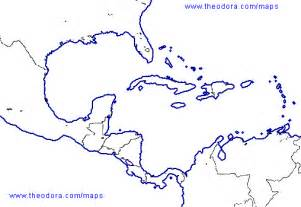 Outline Map Of America And Caribbean by Slavery Project Intro
