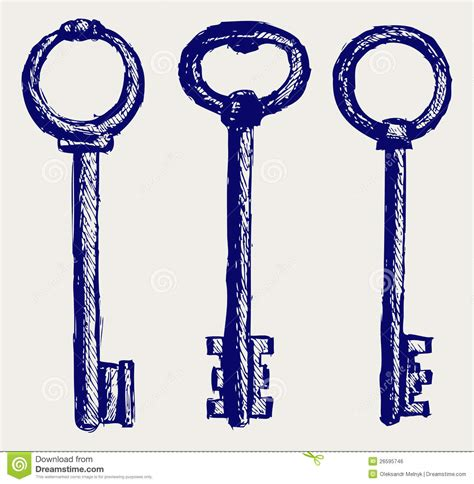 doodle key sketch royalty free stock image image 26595746