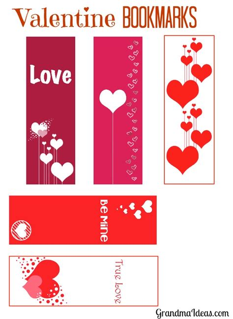 printable bookmarks valentine s day valentine bookmarks grandma ideas
