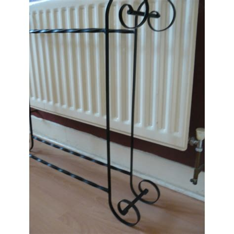 Wrought Iron Towel Rack by Wrought Iron Crafted Scrolled Towel Rack