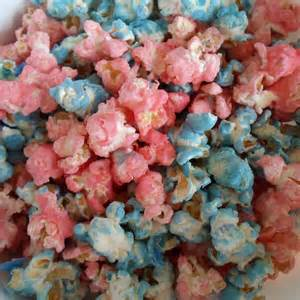 colorful popcorn happier than a pig in mud colored candied popcorn